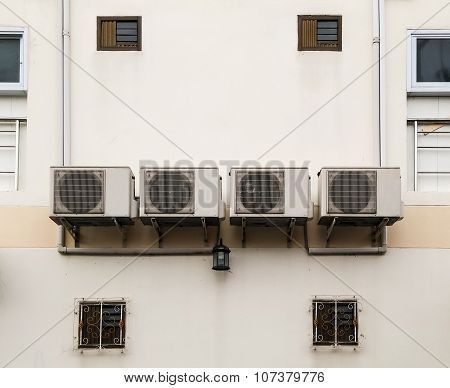 Old Air Conditioner Group