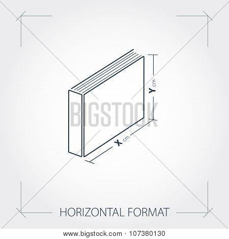 Icon Of Horizontal Format Photobook
