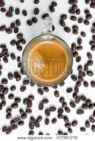 Hot Espresso With Soft Crema