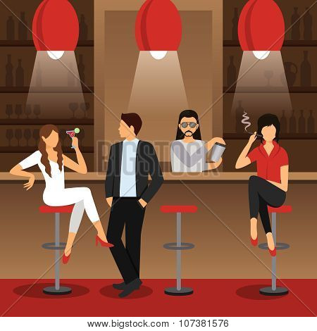 Bar Flat Illustration