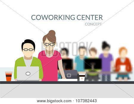 Coworking Center Composition