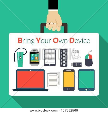 Byod Concept Illustration