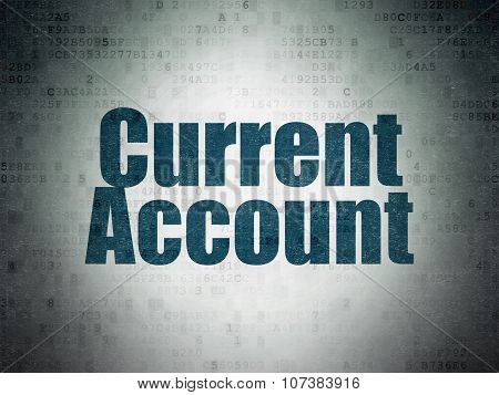 Money concept: Current Account on Digital Paper background