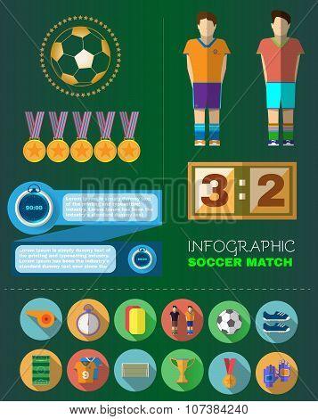 Soccer Match Infograpfic