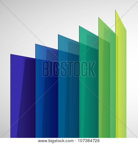 Infographics 3d perspective colorful abstract rectangles on white background