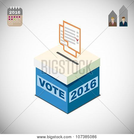 Vote Box And Voting Paper Election 2016