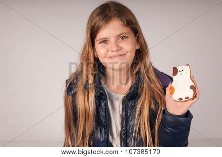 Girl with cookie