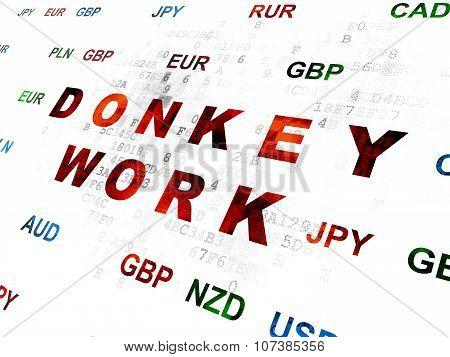 Finance concept: Donkey Work on Digital background