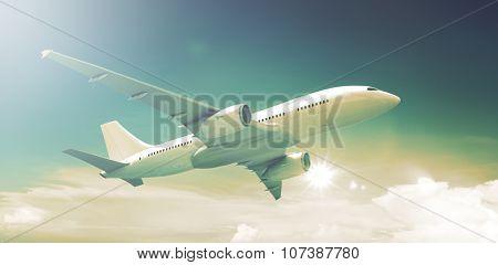 Airplane Plane Flying Aircraft Transportation Travel
