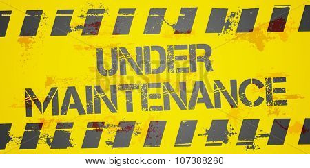 detailed illustration of a grungy Under Maintanance Construction background, eps10 vector