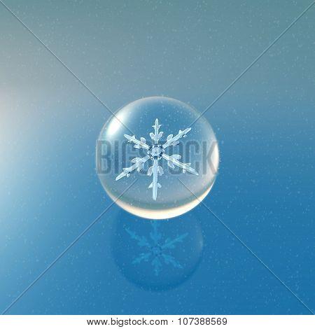 Christmas Snowflakes Crystal Ball