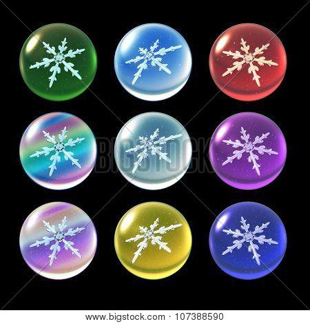Crystal Ball Christmas Set