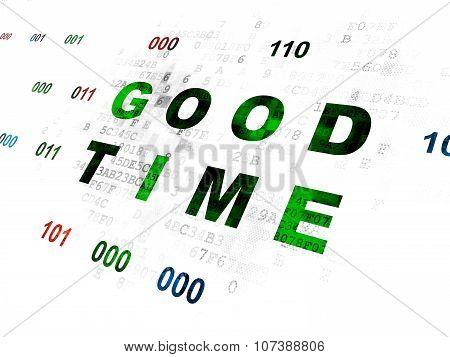 Timeline concept: Good Time on Digital background