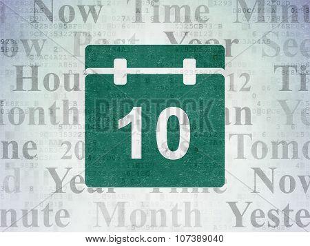 Timeline concept: Calendar on Digital Paper background