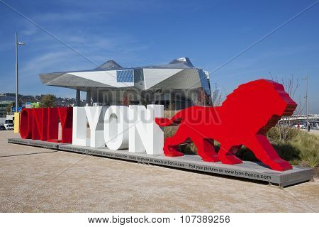 LYON FRANCE November 5 2015 : OnlyLyon the city branding word in front of the