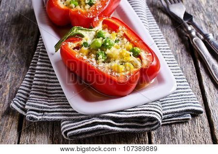 Red Peppers Stuffed
