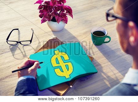 Dollar Sign Money Financial Currency Exchange Concept