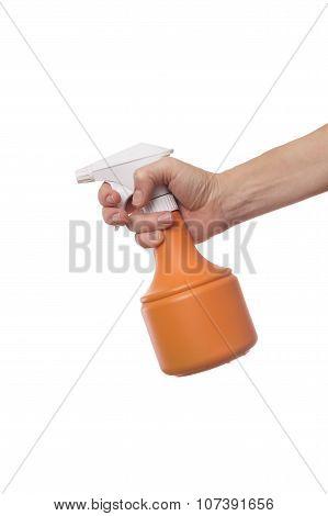 Woman Hand Holding Spray Gun