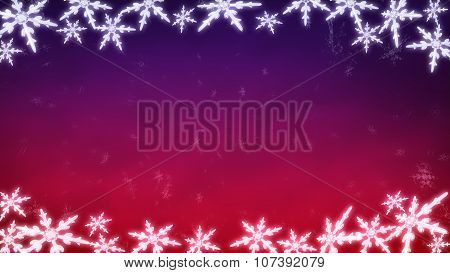 Board Of Snowflakes Background Purple Red