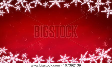 Board Of Snowflakes Background Red