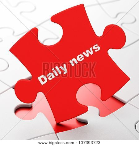 News concept: Daily News on puzzle background