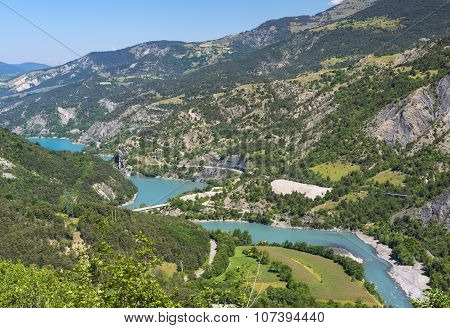 Lake Of Serre-poncon (french Alps)