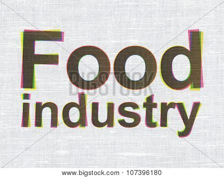 Industry concept: Food Industry on fabric texture background