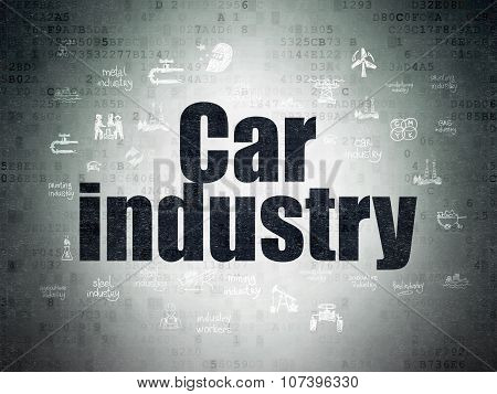 Industry concept: Car Industry on Digital Paper background