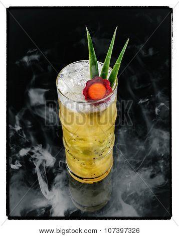 Fresh kiwi cocktail