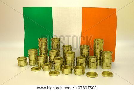 finance concept with Irish flag