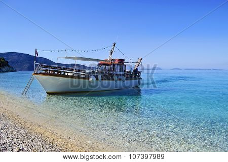boat in Ionian islands Greece