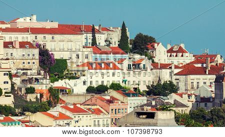 View Of Graca District In Lisbon, Portugal