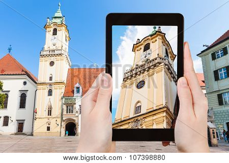 Snapshot Of Old Town Hall In Bratislava