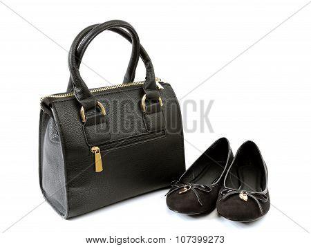 Ballerina Shoes And Handbag.