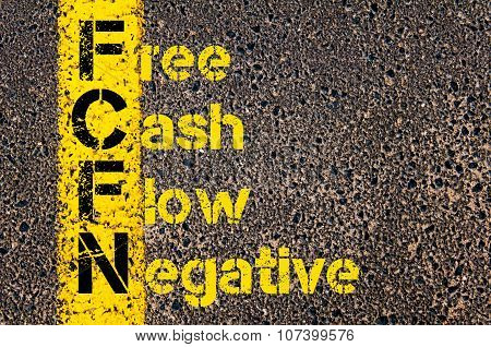 Business Acronym Fcfn As Free Cash Flow Negative