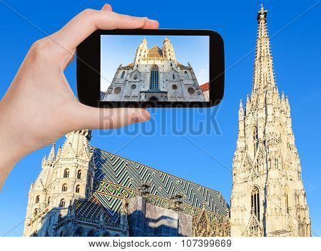 Snapshot Of Stephansdom Cathedral In Vienna