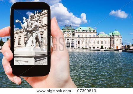 Snapshot Of Sculpture Near Upper Belvedere Palace