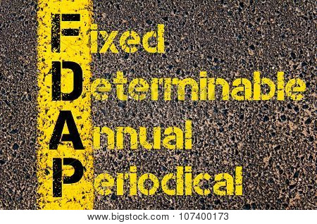 Business Acronym Fdap As Fixed, Determinable, Annual, Periodical