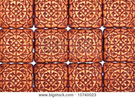 Sweet Cookies As Background