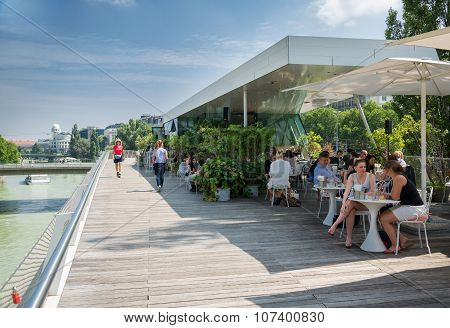 Cafe On  Danube River - Wien