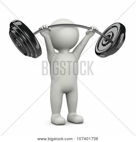 Weightlifting 3D Character