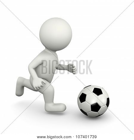 Soccer Player 3D Character