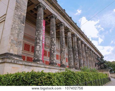 Altesmuseum Meaning Museum Of Antiquities In Berlin
