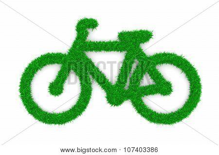 Grass Bike Symbol Shape