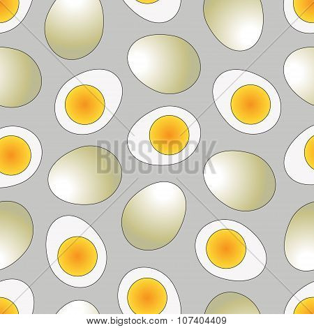 Set of boiled egg in flat icon style