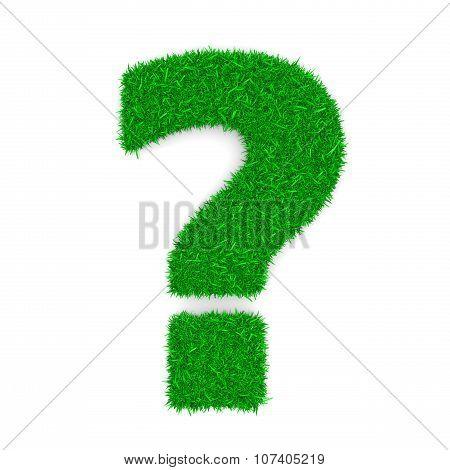 Grass Question Mark Sign Shape
