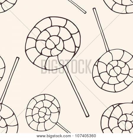 Seamless lollipops pattern
