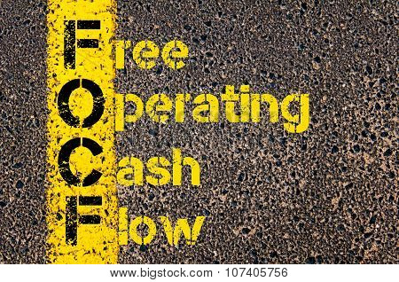 Business Acronym Focf As Free Operating Cash Flow