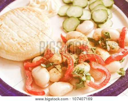 Retro Looking Vegetarian Dish