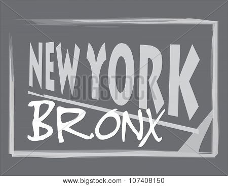 New York Bronx Gray Abstract